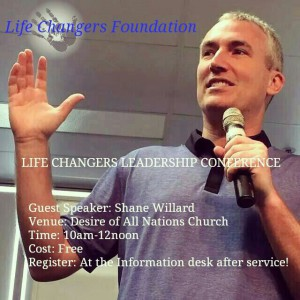 Guest speaker at the Life Changers leadership Conference.